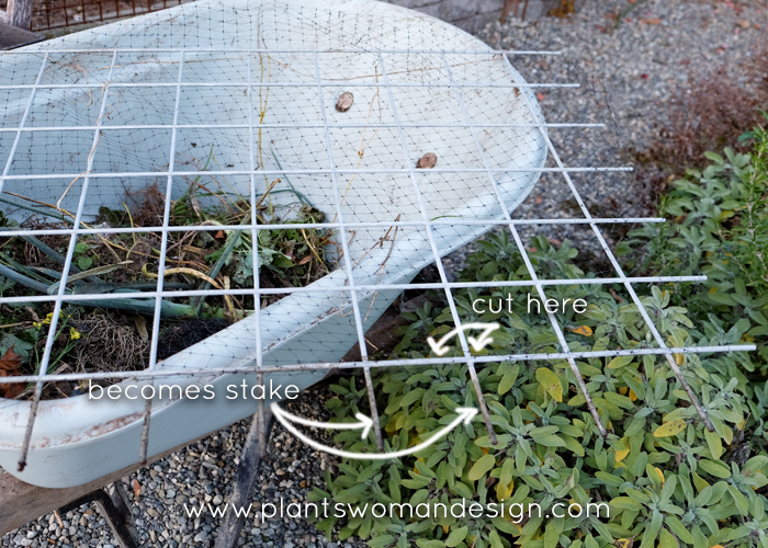 plantswoman design vegetable garden protection, galvanized fencing panels,